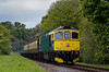 33053 about to cross Bishops Sutton Road Bridge, with the 13:40 Alresford - Alton, <br /> on 20th May 2012.