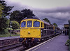 33201 at Ropley, with the 13:06 Alton - Alresford, during the Diesel Gala on 18th May 2003.  Scanned Transparency.