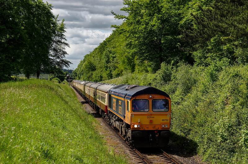 66752 top & tailed with 73128 / 73136 on 1Z83, the 11:30 Alresford - Ardingley, <br /> on 6th June 2015, From Ardingley the railtour returned to Waterloo.