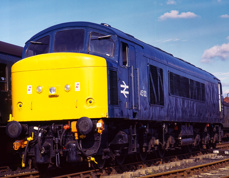 45132 awaits its next turn of duty at Alton, during the Diesel Gala on 4th March 1995. Scanned Transparency.