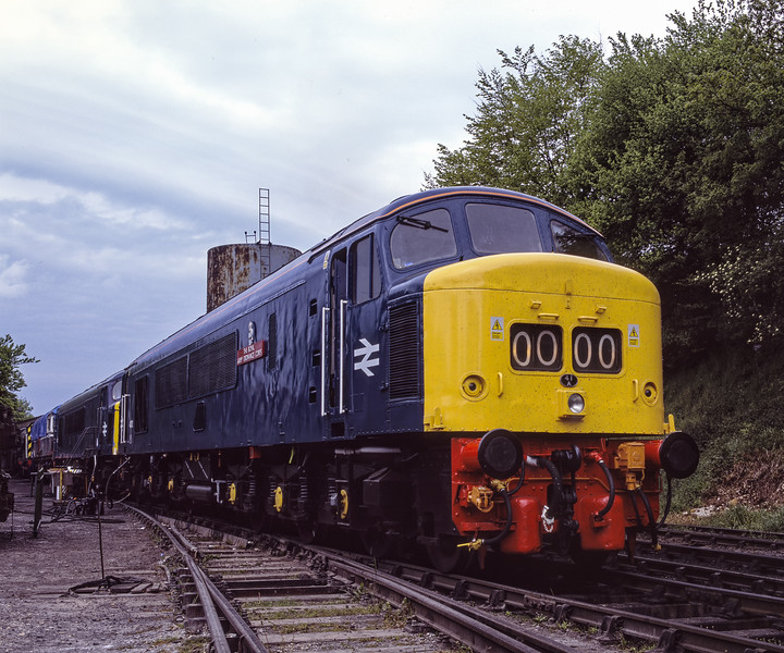 45132 on display at Ropley alongside 45112 which is taking on fuel, during the Diesel Gala on 14th May 2005. Scanned Transparency.