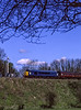 45132 passes the Alresford Down Outer Home signal, running as D199 during Thomas week, 13th April 1998. Scanned Transparency.