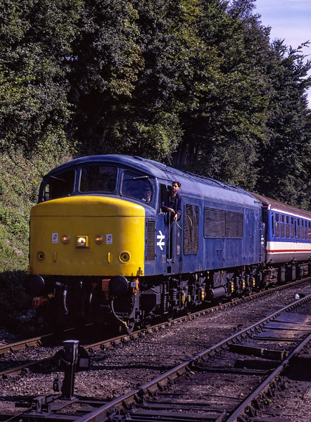 45132 at Ropley, with the 10:41 Alton - Alresford, on 29th August 1998. <br /> Scanned Transparency.