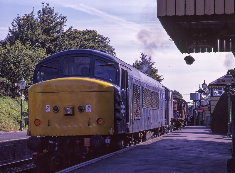 45132 at Ropley with the Steam Crane, on 29th August 1998. Scanned Transparency.
