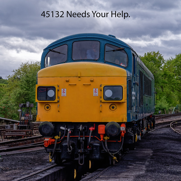 45132 now based at the Epping Ongar Railway is in desperate need of funds after suffering a heartbreaking Main Generator failure, during test running. Any body that could help or advise how to set up online donations, please contact me, using the link above.