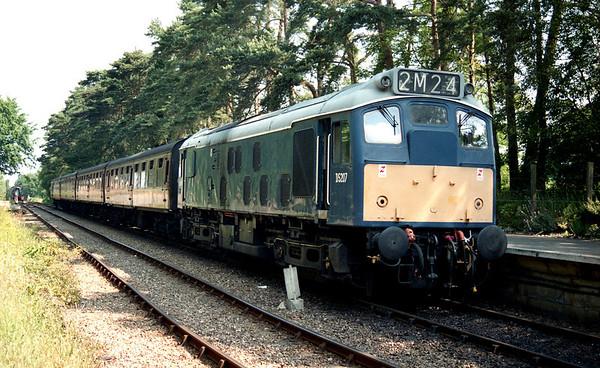 25057 (D5207) arrived at Holt. 29.06.03