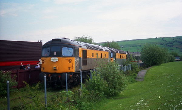 26003 & 26005 at Colne with Pathfinder Tours 1Z46 'The Lancastrian'. 23.05.93