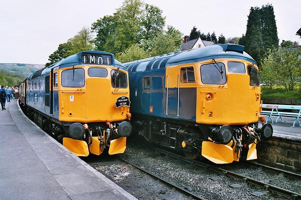 27001 & 26024 looking resplendant at Grosmont. 14.05.05