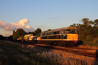 31190 6Z31 Toton to Westbury at Churchdown on the 16th August 2013
