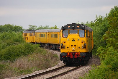 31285 31602 on the 1523 Newport to Bristol Parkway on Bishton Flyover on 19th May 2010