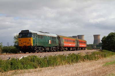 DCR 31601 leading two Virgin MK2s on the 5Z31 Derby to Crewe at Willington on the 16th September 2012