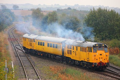 31602 tnt 31105 Long Marston to Derby RTC at Honeybourne on 9th October 2009