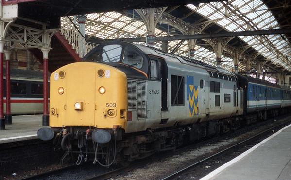 37503 at Preston on 2C39 1138 to Barrow. 31.05.93
