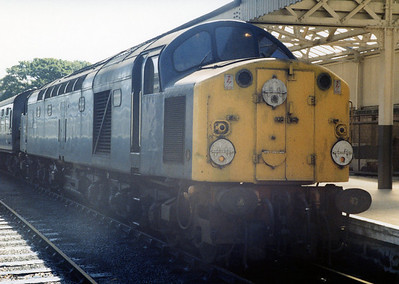 40004 at Largs with 1Z26 Birmingham - Largs charter. 07.08.84