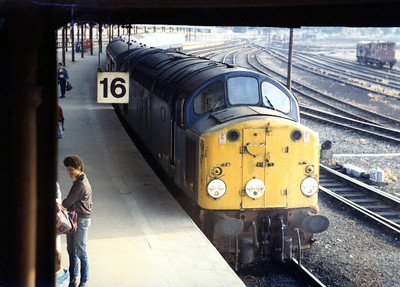 40004 arrived at York with 1Z74 1245 Carlisle - York relief. 27.08.84