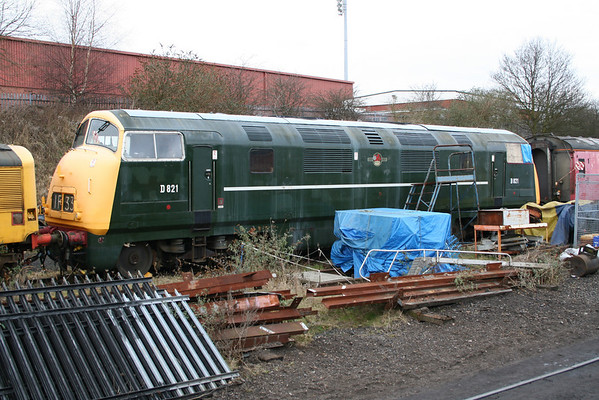 D821 in Kidderminster loco sidings. 19.03.06