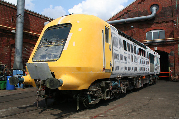 Prototype power car 41001 under restoration at Leeds Neville Hill depot. 13.07.13