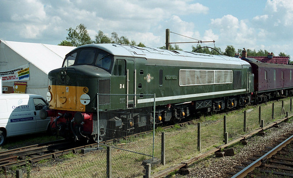 44004 relaxes in the sun at Quorn & Woodhouse on the Great Central Railway.