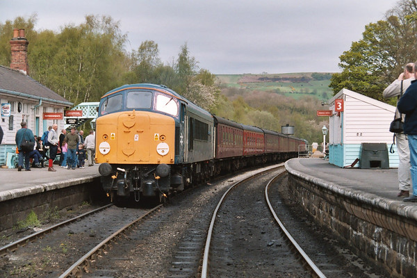 44004 at Grosmont on the 1250 to Pickering. 23.04.04