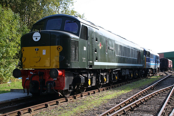 44008 on the shed at Rowsley. 26.09.09