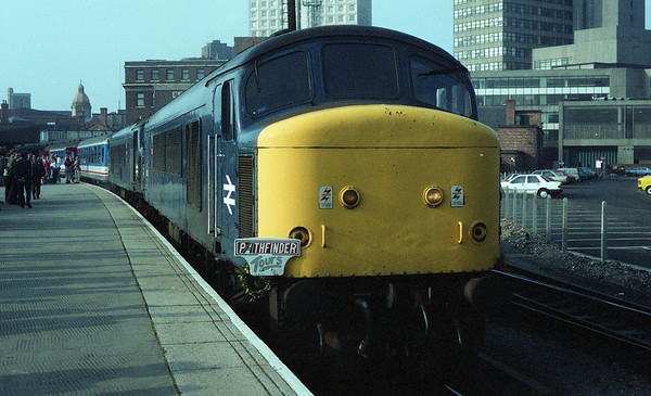 """45007 on top of 45106 at Leicester on Pathfinder Tours """"The 45 Finale"""". 03.10.87"""
