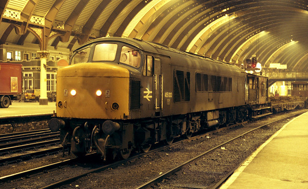 45012 sits at York awaiting the road up the Scarborough Branch.