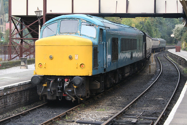 46010 after arrival at Llangollen with the 1150 ex Carrog. 07.10.05