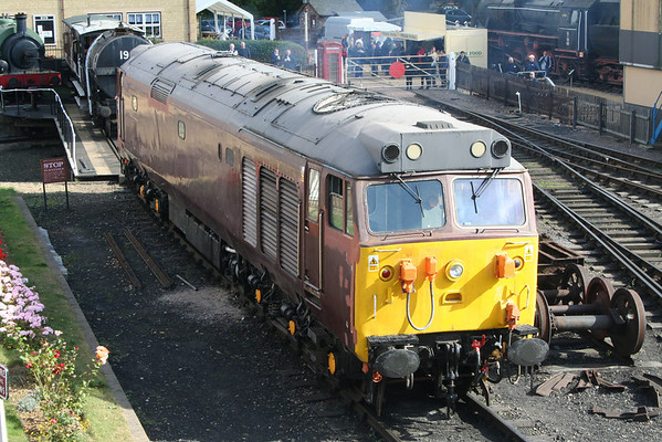 50008 in the yard at Wansford. 04.10.09