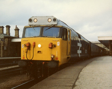 50020 at Sheffield on 1V92 1423 York - Plymouth. 31.12.83