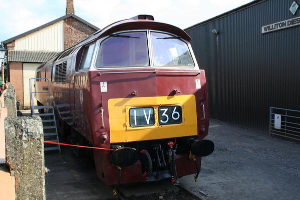 D1010 under restoration at Williton. 14.06.08