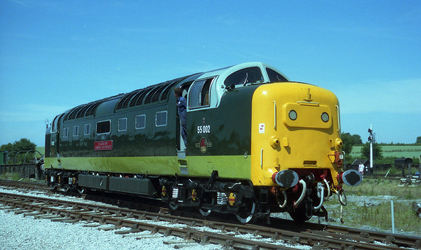 55002 at Swanwick on the Midland Railway Centre.