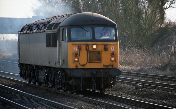 56xxx heads towards Milford Jct.