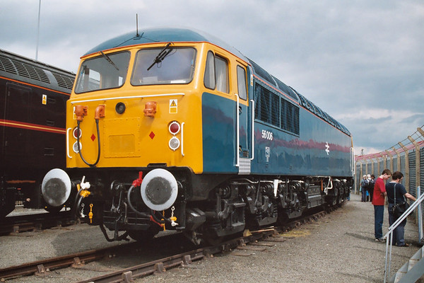 56006 on display at York Rail fest.