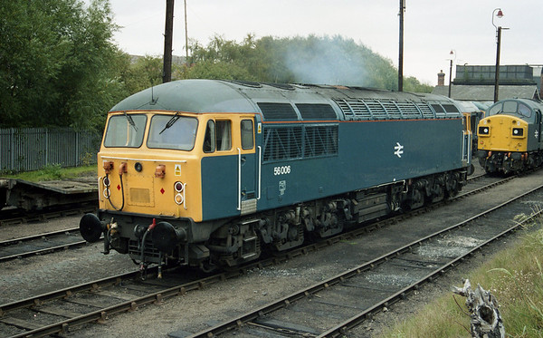 56006 on show at Barrow Hill 'BR Blue' weekend.
