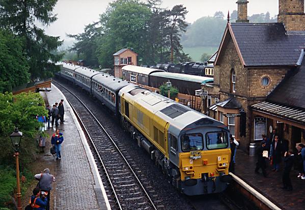 59101 at Arley on the Severn Valley Railway, working the 0950 Kidderminster - Bridgenorth. 09.05.92