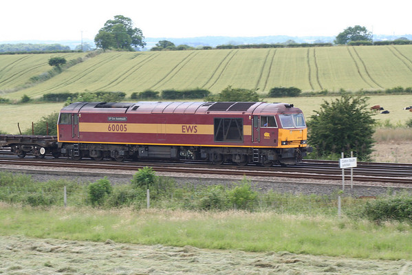 60005 on a very short 6N30 1338 Scunthorpe Ent C - Lackenby steel train. 11.07.05