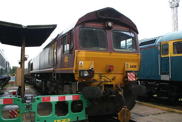 66011 on Knottingley Depot. 06.09.08