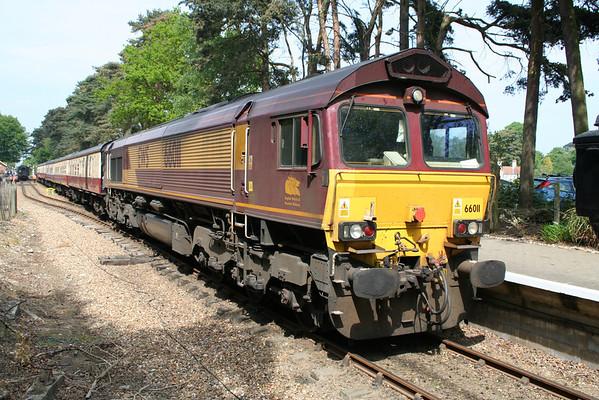 "66011 at Holt on UK Railtours ""The Norfolkman"". 07.05.11"