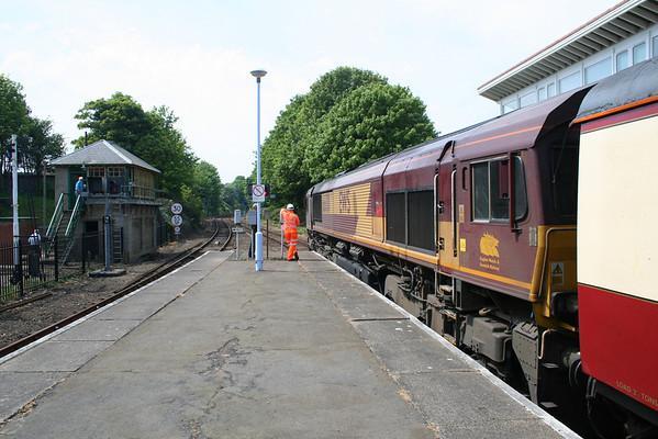 "66011 at Cromer on UK Railtours ""The Norfolkman"". 07.05.11"