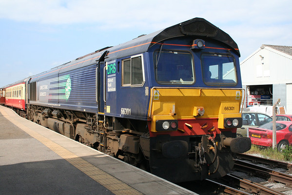 66301 at Leeming Bar on the rear of the 1015 to Redmire. 08.06.13