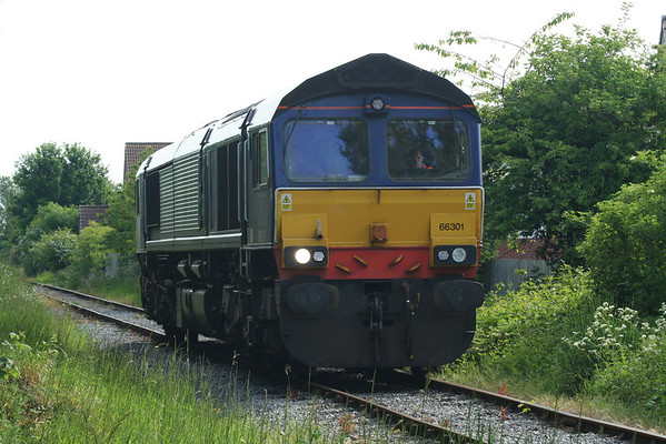 66301 awaits the road into Leeming Bar to take part in the Diesel Gala. 08.06.13