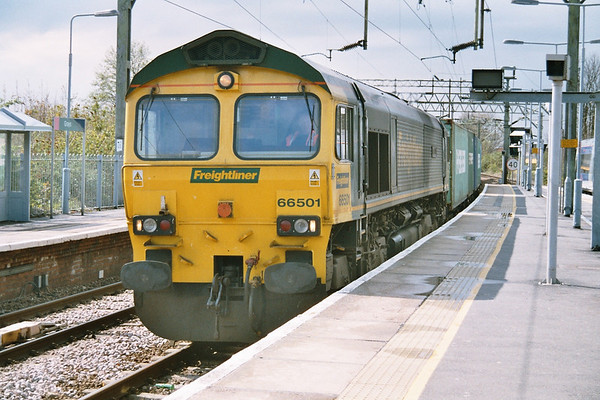 66501 passing through Grays on a liner. 19.04.05