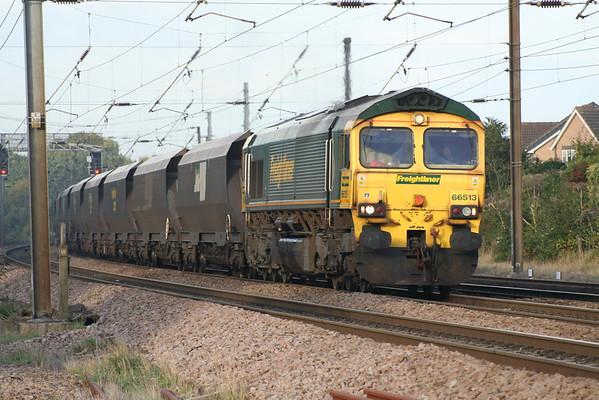 66513 thrashing away from York on 6H74 1512 York Up Reception - Drax PS. 20.10.13