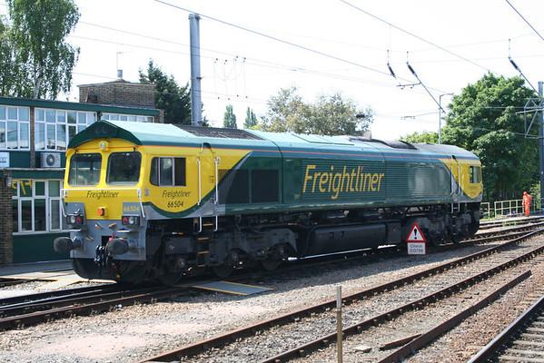 66504 departing Ipswich Yard. 06.06.13
