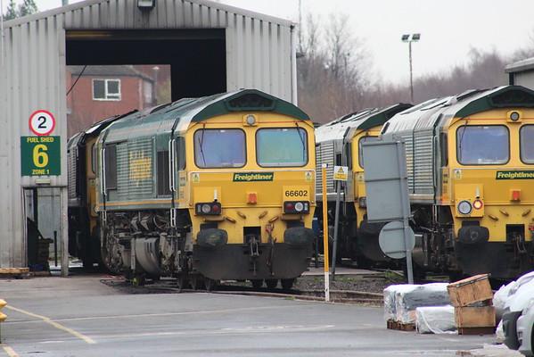66602 on Leeds Midland Road depot. 01.01.16
