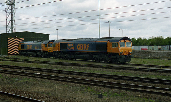 66704 on Peterborough shed on a gloomy day.