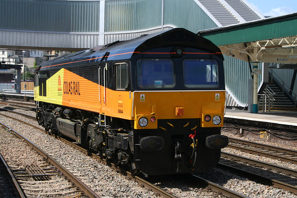 66844 passes through Newport on 0Z78 1100 Llanwern - Margam Yard. 22.05.11