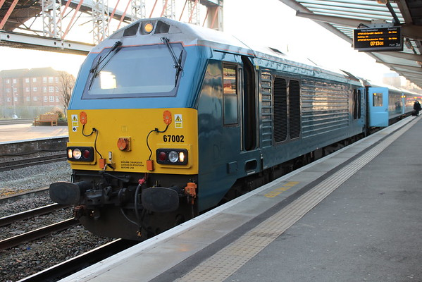 67002 at Chester on 1V91 0533 Holyhead - Cardiff Central. 08.04.15