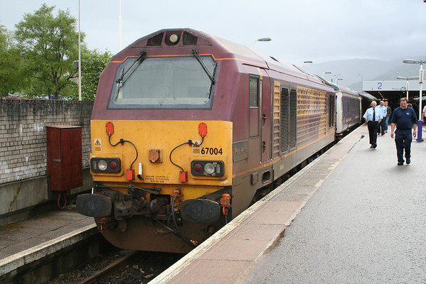 67004 at Fort William on the 'beds' to Edinburgh. 19.05.07