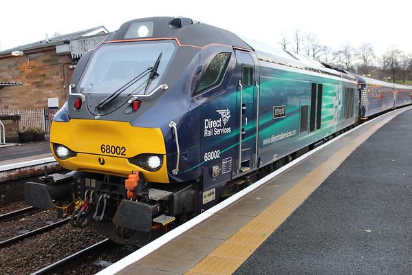 68002 at Dunfermline Town on 1Z14 1200 Dunfermline Town - Haymarket. 09.12.15